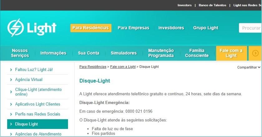 Site Light Para Parcelamento de Contas
