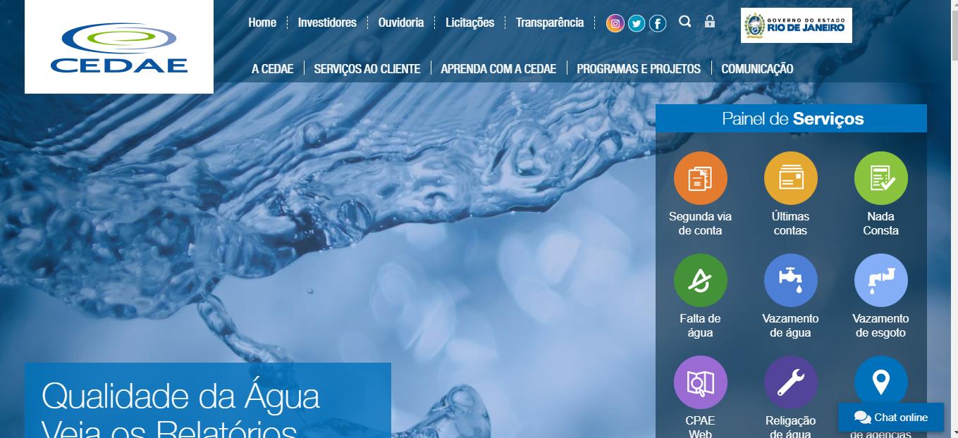 Parcelamento da Conta De Água Da Cedae Pela Internet