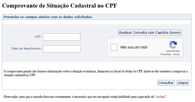 Consultar Número De Um CPF Pela Internet